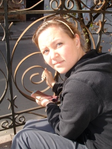 Jeanne preparing Balcony Cafe