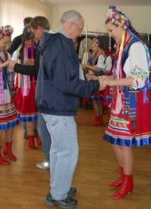 The girls invited some visitors to dance with them. Fun for the dancers AND those watching!
